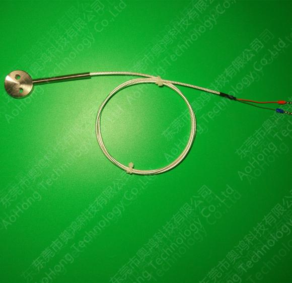 圆饼贴片式PT100铂热电阻温度传感器